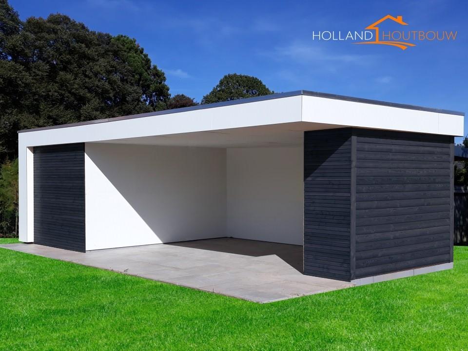 Modern poolhouse met kleedruimte